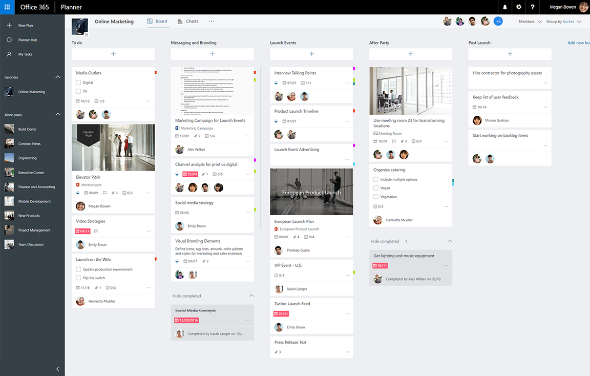 Microsoft Planner giúpquản lý công việc đơn giản