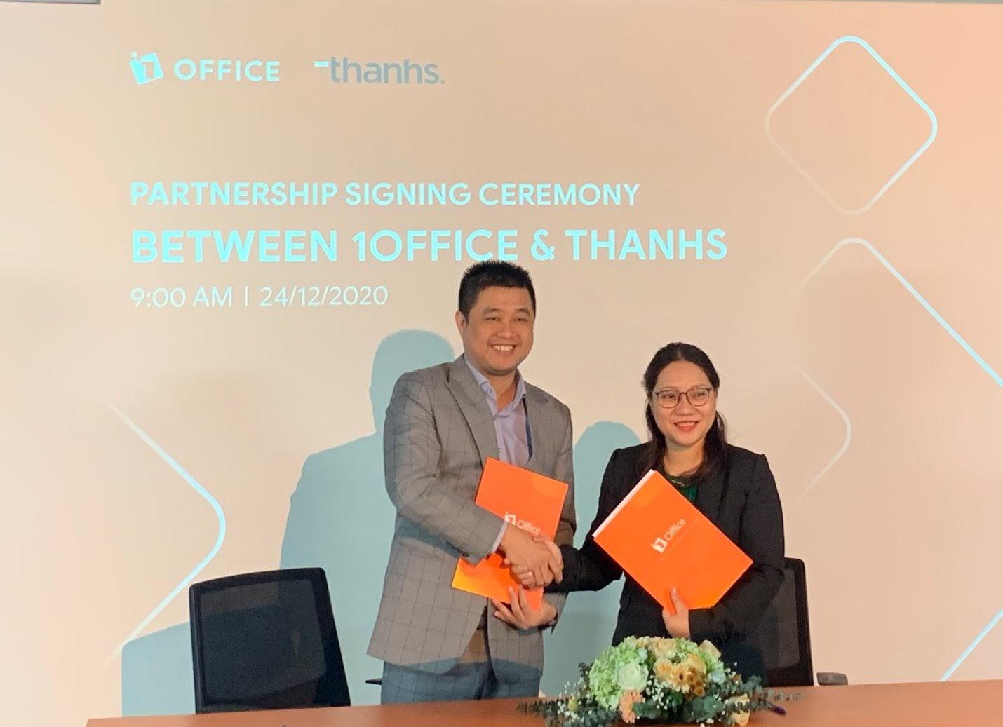 1Office và Thanhs ký thỏa thuận hợp tác chiến lược