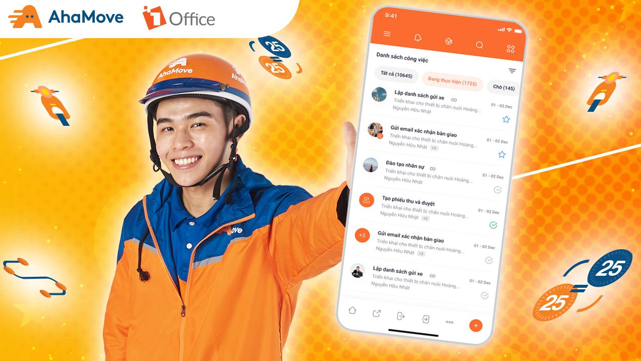 AhaMove lựa chọn 1Office đồng hành trong công cuộc chuyển đổi số nội bộ