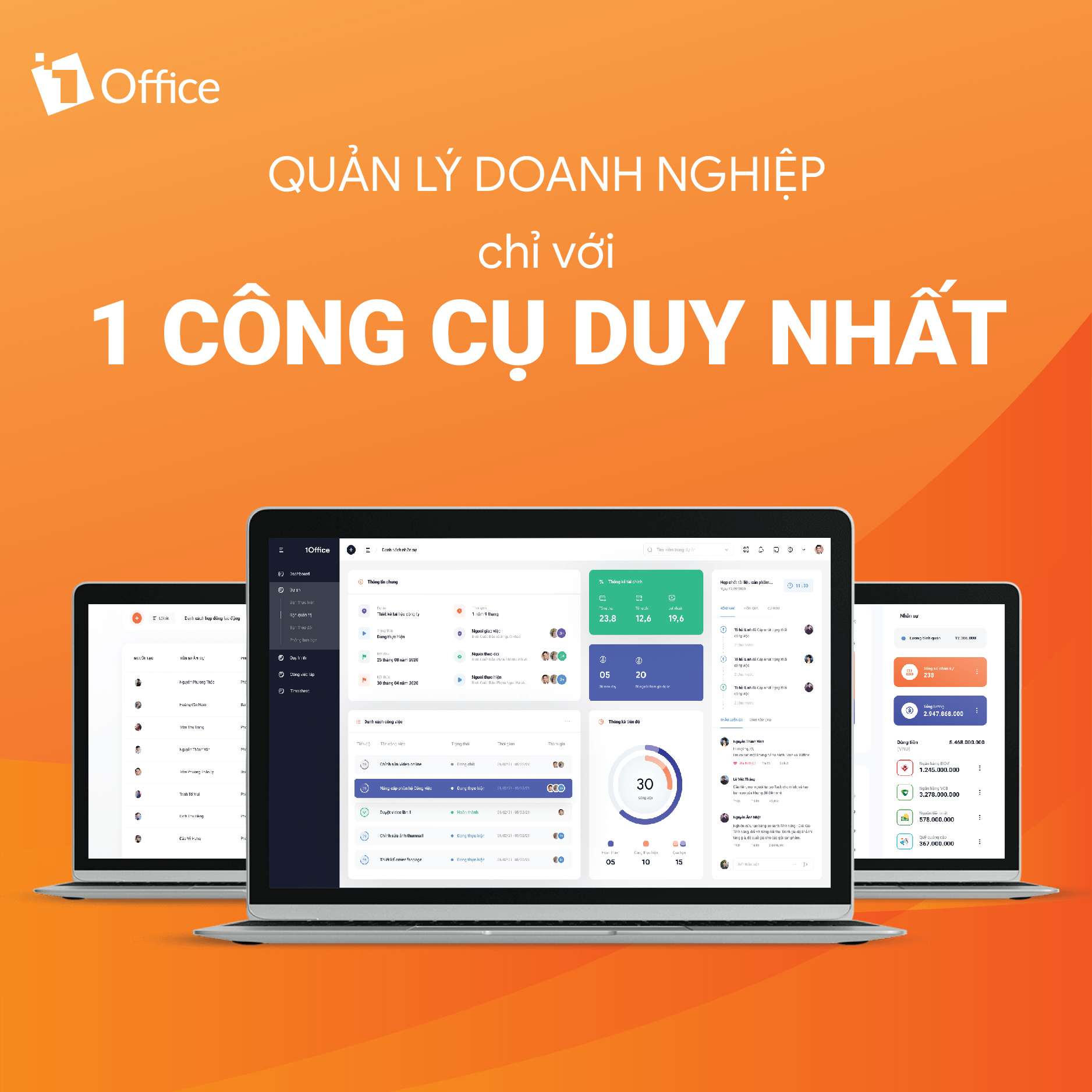 1Office là phần mềm được quan tâm nhiều trên mạng
