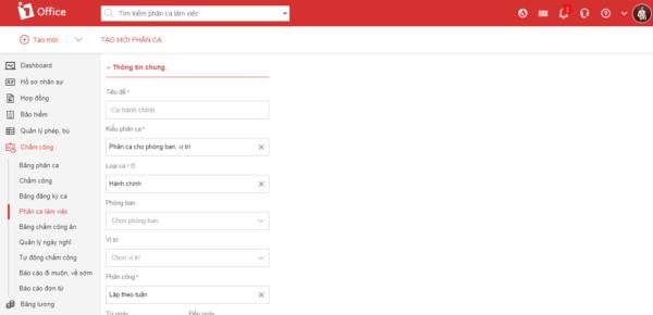 phần mềm xếp lịch làm việc dễ dàng